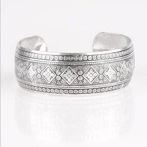 Gypsy silver cuff bracelet